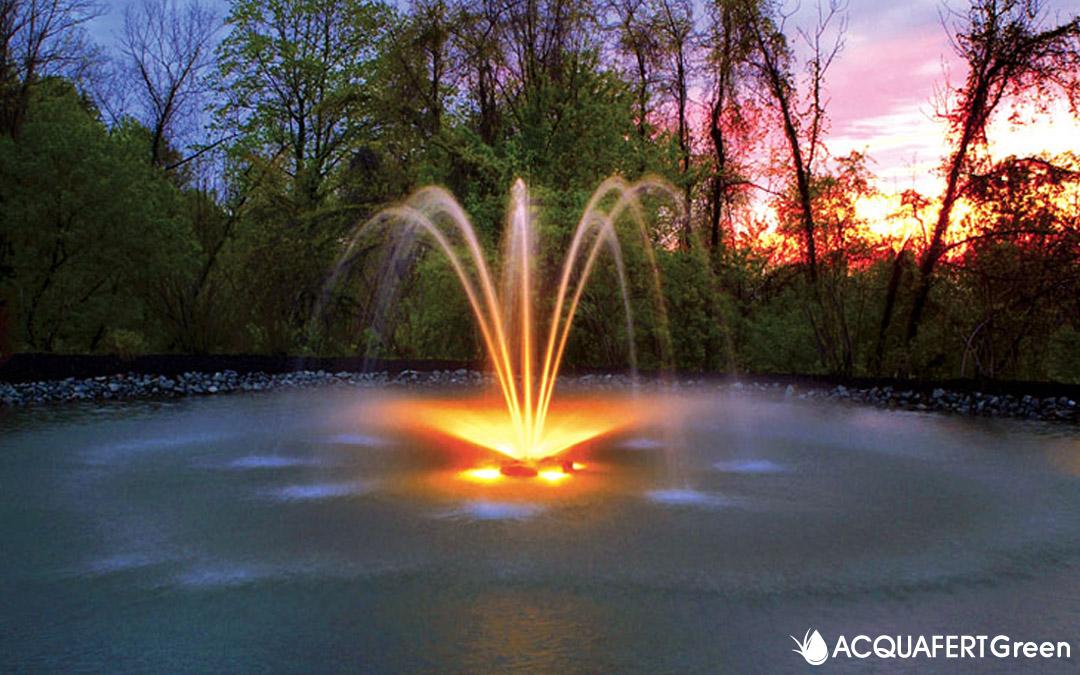 Ossigenatori Otterbine: utili fontane per laghetti artificiali