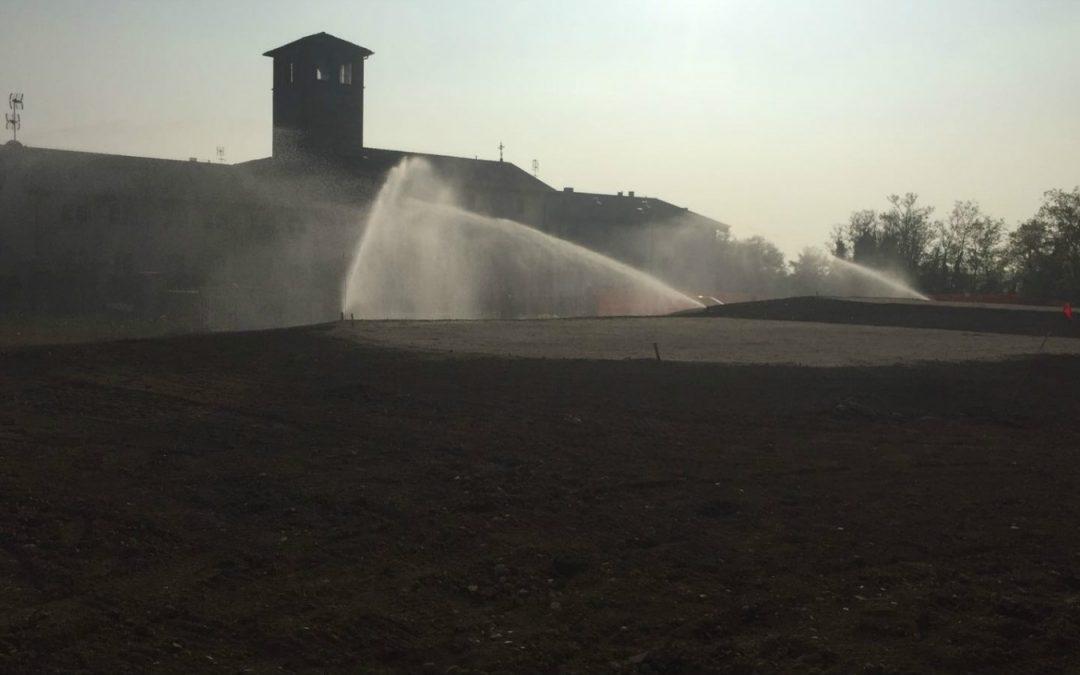 Ampliamento del sistema di irrigazione e nuovo lago per il Golf Borgo di Camuzzago