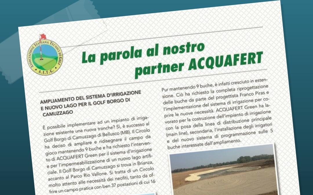 Ampliamento del sistema di irrigazione e nuovo lago per Borgo di Camuzzago